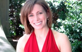 Olympic Gold Medalist Shannon Miller in red
