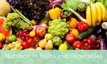 Nutrition in Fruits and Vegetables