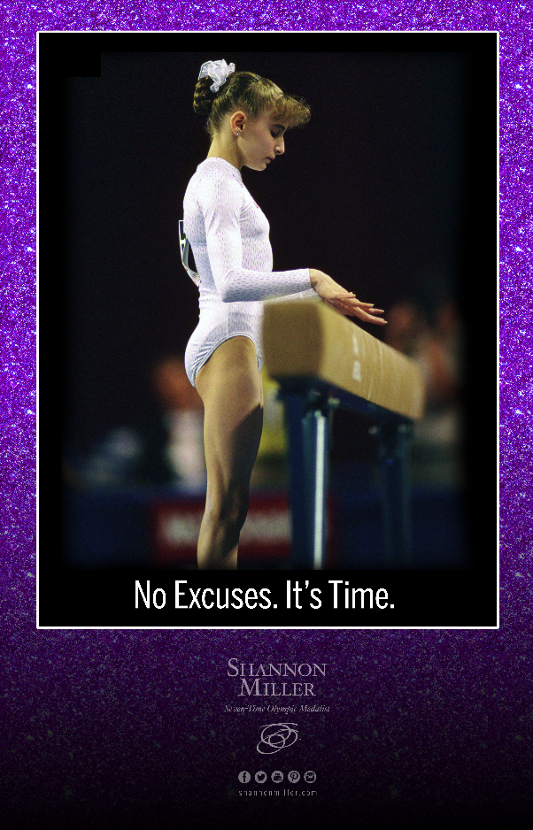 purple sparkle gymnastics poster