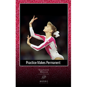pink sparkle gymnastics poster