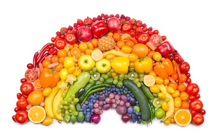 34244125 - fruit and vegetable rainbow