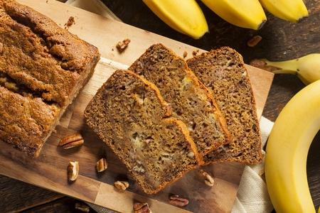 26477205 - homemade banana nut bread cut into slices