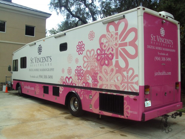 St. Vincents HealthCare's fully digital mobile mammography unit, which is Jacksonville's only mobile unit.
