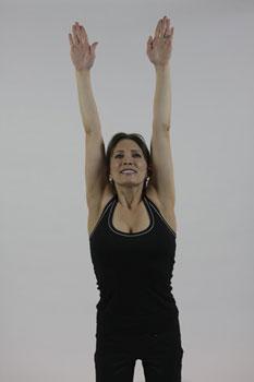 Standing full body stretch