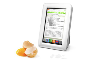 Demy Kitchen Safe Touch Screen Recipe Reader