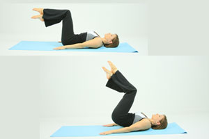 Reverse crunch lower abs exercise