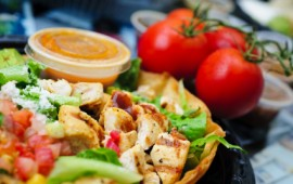 grilled chicken salad dressing on side