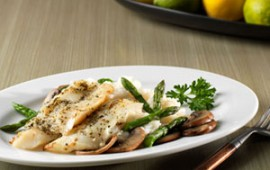 Herb and Garlic-Crusted Cod