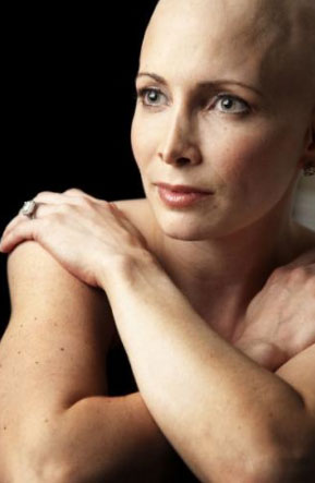 Olympic Gold Medalist Shannon Miller, during cancer treatment, spring of 2011