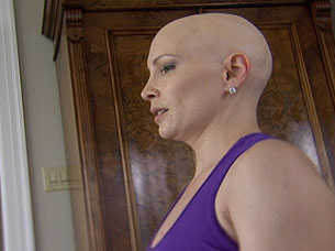 Shannon Miller exercising after chemo.