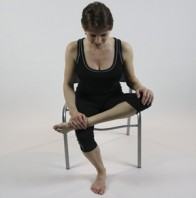Seated Hip Opener on Chair
